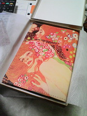 "Nume Leather Book Cover ""Klimt"""