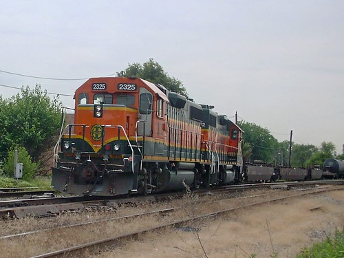 Northbound BNSF Railway transfer train entering the IHB Argo Yard. Summit Illinois USA. June 2007. by Eddie from Chicago