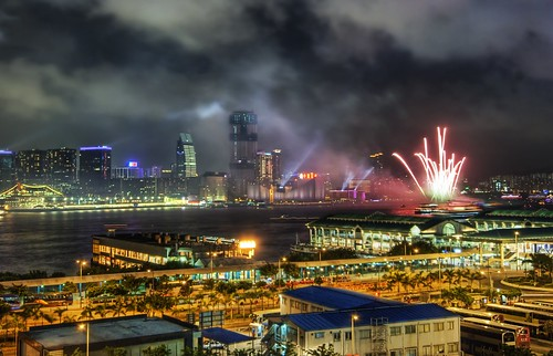Hong Kong Fireworks in the South China Sea