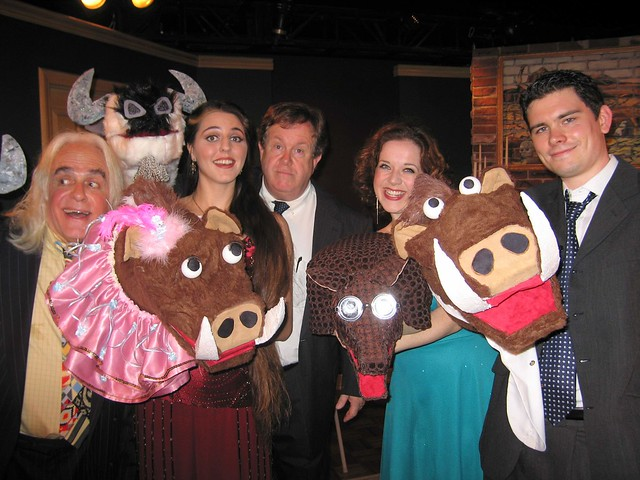 """The cast of """"A Flanders and Swann House Party"""" 