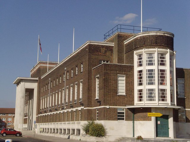 Dagenham Civic Centre 1936 London Art Deco Architect E