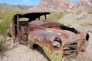 rusted desert car