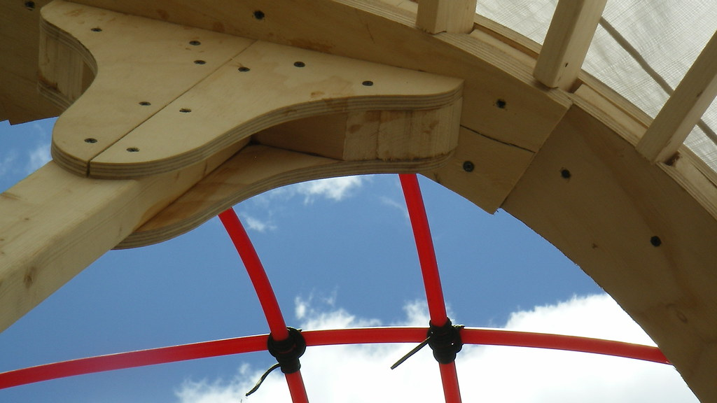 Pix Yurt Dome | Scrap plywood from making roof ring used to … | Flickr