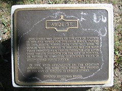 Photo of Robert Awde bronze plaque