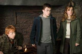 Ron Harry y Hermione