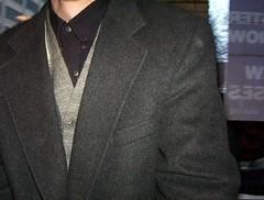 jacket(0.0), tuxedo(0.0), flooring(0.0), clothing(1.0), blazer(1.0), outerwear(1.0), formal wear(1.0), suit(1.0),