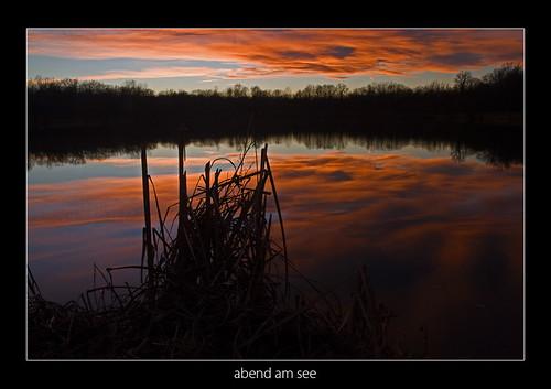 sunset lake clouds austria styria