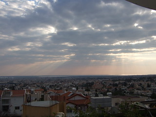 Sun and clouds above Limassol