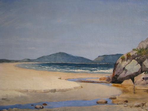 José Ferraz de Almeida Júnior - óleo sobre tela