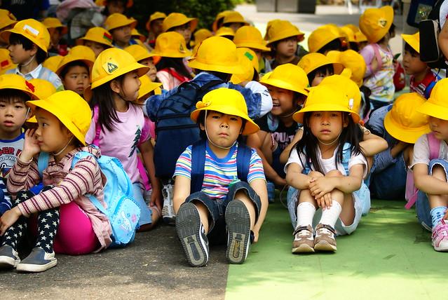 Yellow Caps at Ueno