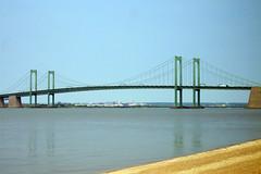 Delaware Memorial Bridge From NJ Side