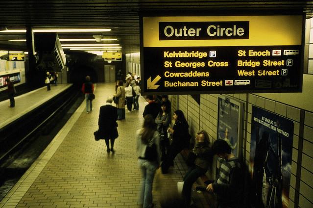 Platform in Glasgow underground