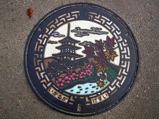 Ikaruga town, Nara pref manhole cover(奈良県斑鳩町のマンホール)