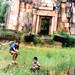 Boys fishing at Khmer Ruins by B℮n