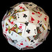 Playing cards sphere (stitched) by Nick Sayers