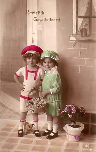 Vintage Postcard  ~ Sweet Children