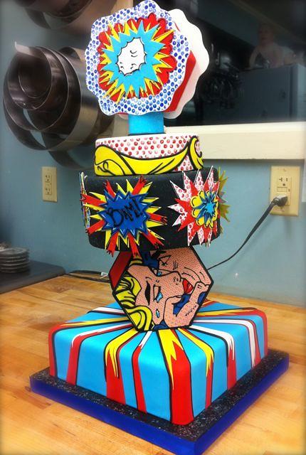 Cake Art N R Colony : Roy Lichtenstein pop-art cake unfinished Flickr - Photo ...