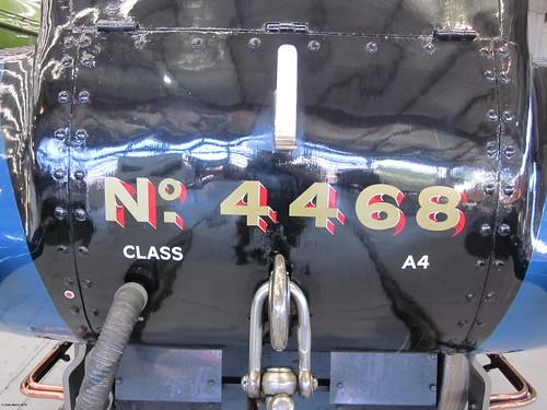 LNER A4 Pacific Class Steam Locomotive Mallard 4468 at Shildon 4 October 2010