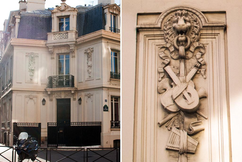 Maison à l'angle des rues de Prony et de Chazelles