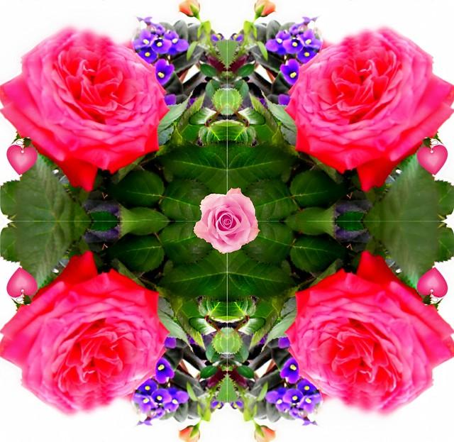 ۞ Mandala floral como relajación.