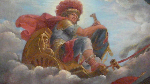painting of Mars, god of war, at Chateau de Versailles ...