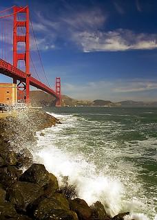 "San Francisco - Golden Gate Bridge ""I'll have the 'Cirrus clouds on a little splash' please."""