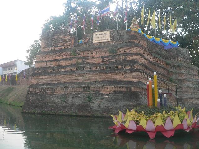 Old city wall, Chiang Mai, Thailand, January 2007