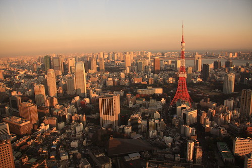 Tokyo Tower from Mori Helicopter