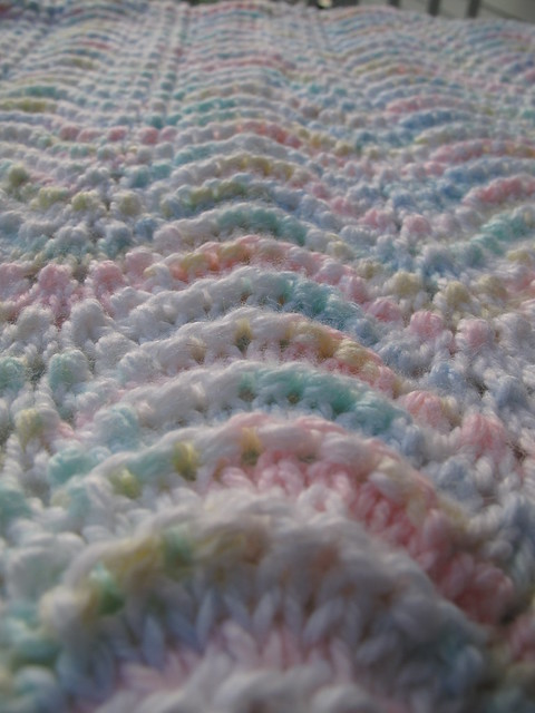 Lullaby Lass Hand-Knitted Ripple Baby Blanket / Afghan ...