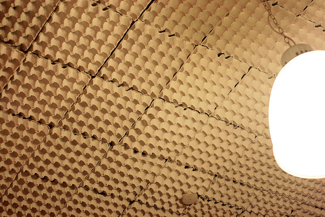 soundproofing with egg cartons flickr photo sharing. Black Bedroom Furniture Sets. Home Design Ideas