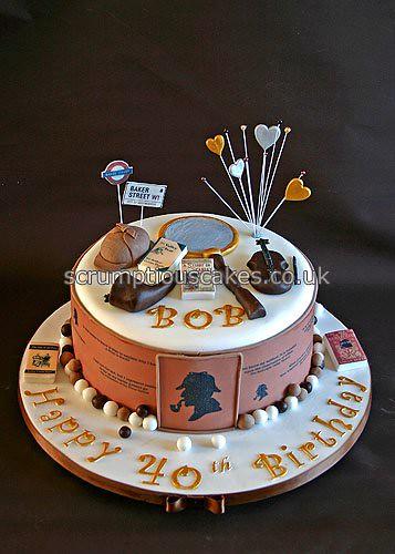 Sherlock Holmes Birthday Cake