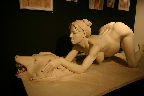Daniel Edwards sculpture of Britney Spears giving birth