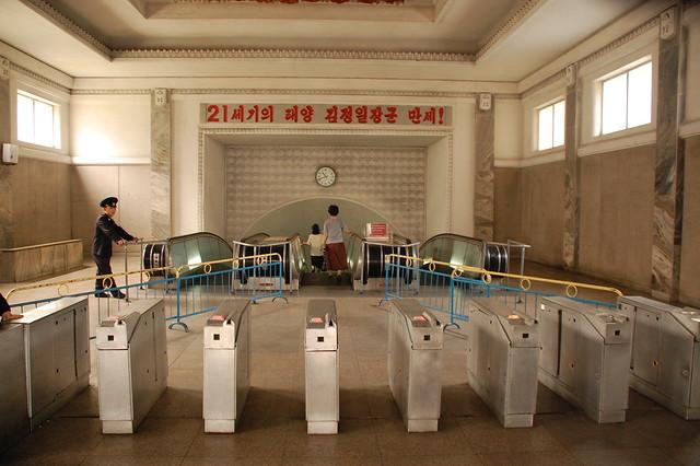 North Korea — Pyongyang Metro by fljckr
