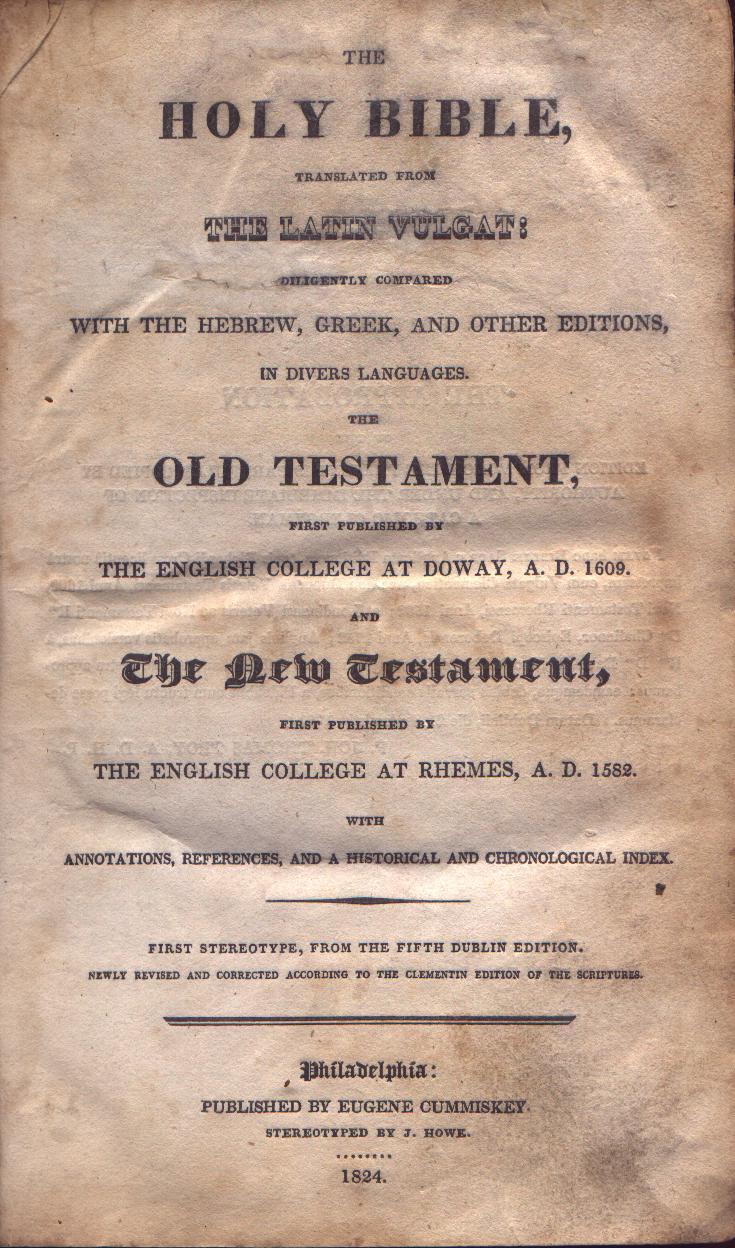 douay rheims in america internet bible catalog