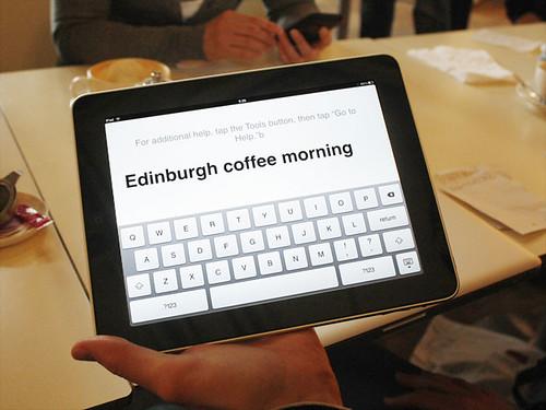 Apple iPad at the Edinburgh Coffee Morning 14 May 2010