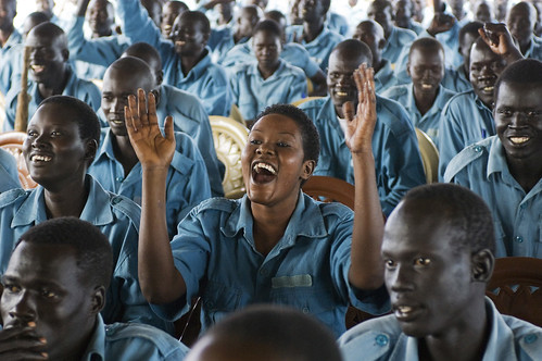 South Sudan Police Recruits at Training Academy