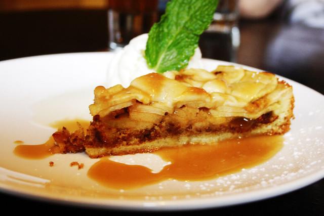 apple tart thing with vanilla ice cream | Flickr - Photo Sharing!