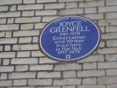 Photo of Joyce Grenfell blue plaque