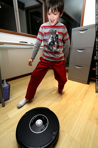 nick, dancing with the roomba