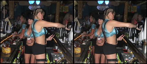 brian wallace brianwallace 3d stereo stereoscopy stereoscopic stereographic stereogram stereoimage stereopicture halloween celebration indoors inside club cancuncantina bar stereopair crossview xview crosseye xeye freeview depth costumes makeup dressup fantasy fun pretend sexy women woman ladies lady female pretty linda beautiful built stacked fine gorgeous skimpy gals kristina jami tricia