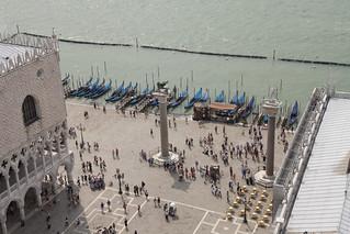 Image of Piazzetta San Marco near Venice. italy campanile palazzo venezia dogi gondole piazzettasanmarco