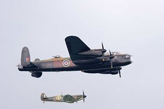 aviation, airplane, propeller driven aircraft, vehicle, supermarine spitfire, fighter aircraft, bomber, air show,