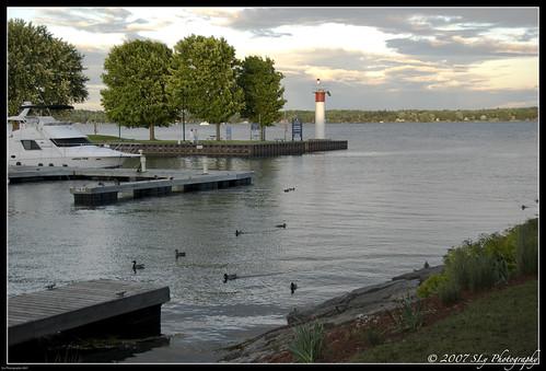 light sunset summer vacation cloud tree water grass race relax boat duck nice dock warm dusk ducks calm launch brockville 1000islands 2007 towere