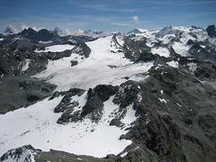 adventure(0.0), mountaineering(0.0), ski touring(0.0), cirque(0.0), mountain pass(0.0), alps(1.0), moraine(1.0), mountain(1.0), snow(1.0), glacial landform(1.0), mountain range(1.0), glacier(1.0), summit(1.0), ridge(1.0), plateau(1.0), arãªte(1.0), fell(1.0), massif(1.0), mountainous landforms(1.0),