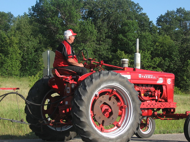Guy On Tractor : Old man on tractor flickr photo sharing