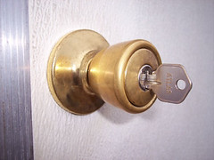 metal(1.0), door handle(1.0), lock(1.0), brass(1.0),