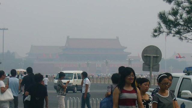 Smog at Tiananmen Square