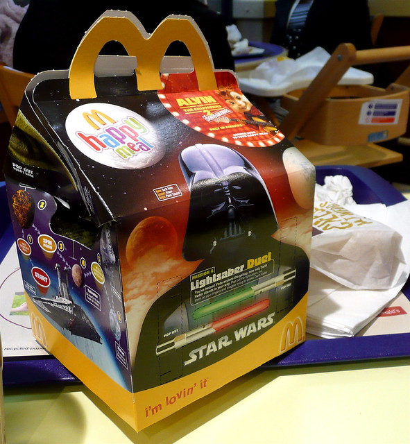 darth on a happy meal box flickr photo sharing