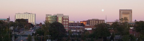 sunset moon sc skyline downtown spartanburg