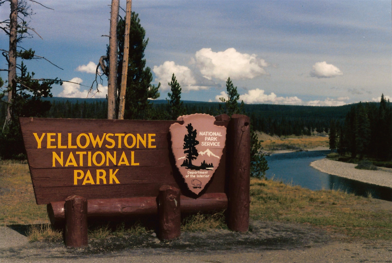 Yellowstone National Park Sign   Flickr - Photo Sharing! Yellow Square Logos